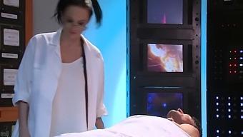 17 Alektra As Scientist Brunette Milf Fucks With Robot With Alektra Blue