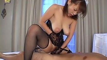 Japanese girl sucks cock and gets fucked