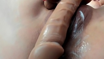 Horny amateur couple close up anal on webcam